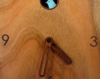 Wall clock, Desk Clock, Cuckoo Clock, Clock-natural Cherry veneer