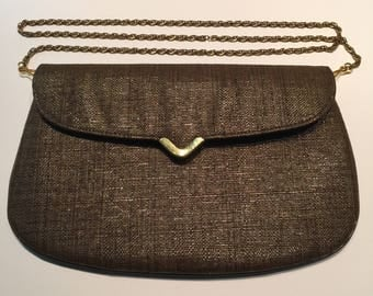 1960's Koret  clutch purse with removable chain strap.
