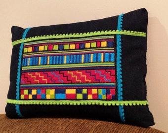 Peruvian needlepoint pillow