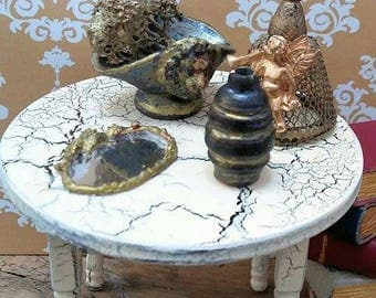 Miniature distressed dining table