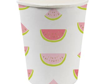 Watermelon Cups,Watermelon Party Cup,Party Cups,Summer Party,Hello Summer Party,Summer Cups,Summer Watermelon,Paper Cups,Paper Party Cups