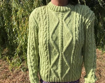 Sweater for women green - size 38/40