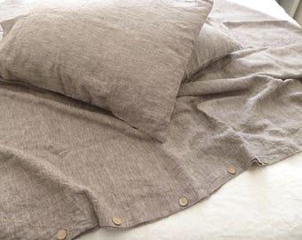 Linen pillowCase linen pillow cover envelope closure standard Queen King Euro Envelope closure