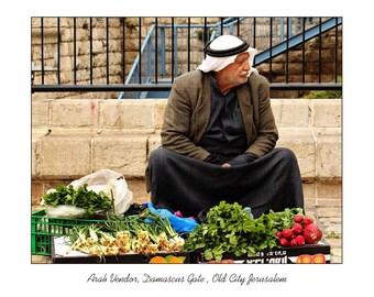 Palestinian Vendor at Damascus Gate, Blank Card