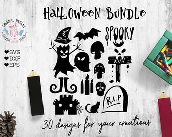 Halloween SVG, Halloween Cut Files, Halloween Bundle available in SVG, DXF, eps Version, Handmade Halloween svg for your crafting projects