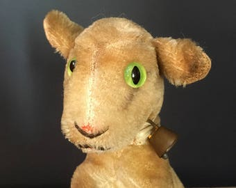 Vintage Steiff Zicky goat with original bell and button