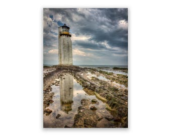 Southerness Lighthouse with Storm Approaching A4 / A3 Photograph Photographic Print - Dumfries and Galloway, Scotland, Scottish Landscape