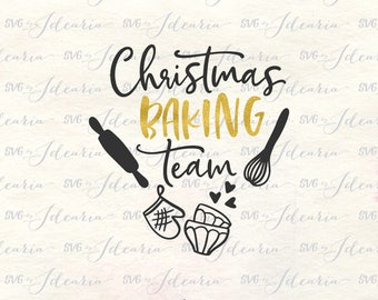 Baking team Svg, Holiday Baking Team, baking svg, kitchen svg, home svg, christmas svg, kitchen towels svg, svg xmas, svg files kitchen
