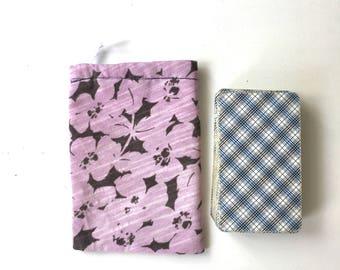 Tarot bag of pink and brown floral wonder