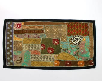 Handmade Embroidered Patchwork Traditional Living Room Beautiful Head Board Decorative Fine Art Bedroom Design Home Decor Table Top D922