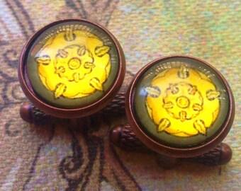 House Tyrell Golden Rose sigil GoT cufflinks