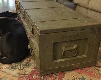 WWII Military Trunk