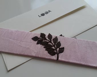 Fabric Bookmark (Raw Floral)