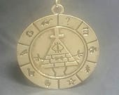Bill Cipher inspired pendant necklace