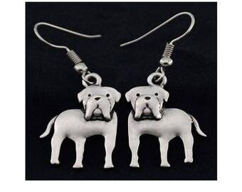 Mastiff Charm Earrings