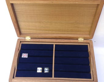 Digby - mid-sized cufflink or valet box, you can tailor in interior, wood and function. Handmade of solid wood, contemporary style.
