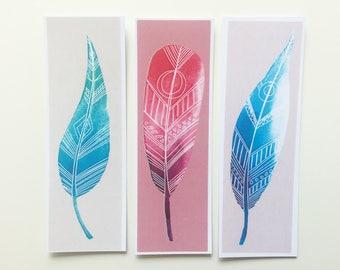 Bookmark Set - Creative Bookmarks - Feathers