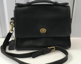 Vintage Coach Black Leather Purse Classic Coach Bag vintage Coach