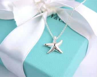 Delilghtful AuthenticTiffany & Co. Sterling Silver Elsa Peretti Small Starfish Necklace