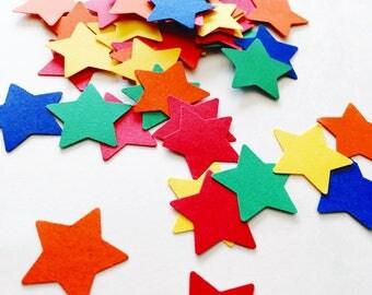 Rainbow bright star confetti