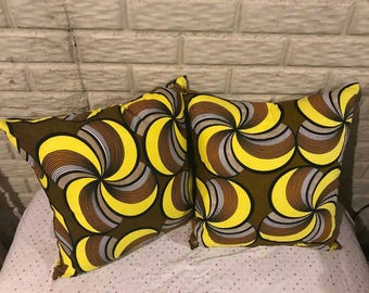 Ankara throw pillows (set of 2)