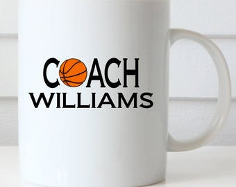 Basketball, Soccer or Volleyball Coach Coffee Mug, Athletic Coach Mugs, Gift Mugs for Coaches