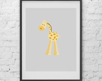 20% off Giraffe Nursery Print, Art Print, Print Art, Digital Print, Poster, Nursery Print, Minimalist Poster, Poster Art, Poster Print, Art