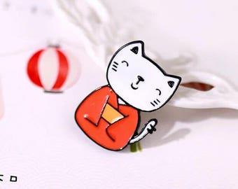 kimono cat enamel pin creative brooch pin metal pins Lapel Pin Brooch Planet