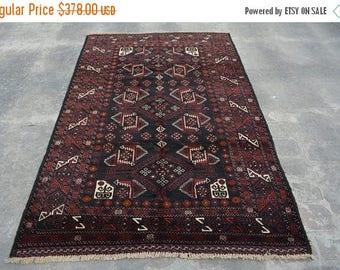 BIG SALE 6'10 x 4'5 FT Handmade Tribal Baluch Afghan rug