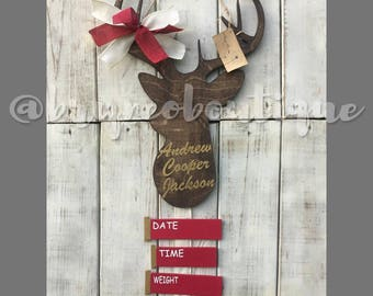 Deer / Shotgun Shells / Hospital Door Hanger / Welcome Baby / Birth Announcement