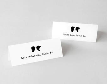 Printable Silhouettes Place Cards or Escort Cards
