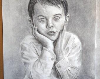 Charcoal Portrait commission example