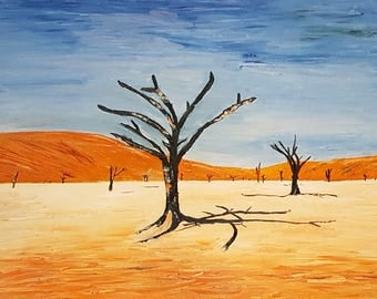 Original Oil Painting Namibia