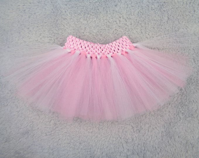 Preemie tutu - pink and white tutu - preemie girl clothes, NICU pictures, preemie photo prop, preemie gift, premature baby girl clothes