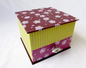 Jewelry box with drawer double level