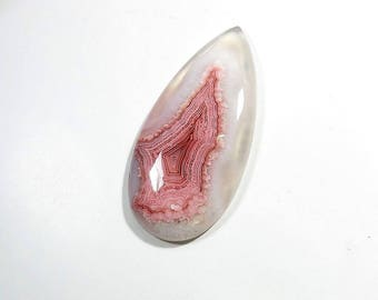 Rhodochrosite Quartz Cabochons Gemstone Pear Shape Excellent Top Quality Rhodochrosite Quartz For Jewelry Making 79Cts 55X27X7mm
