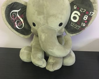 Newborn Announcement Keepsake Elephant