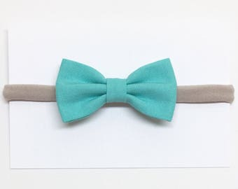 Baby Girl Bows - Turquoise - Baby Bows - Clips or headbands