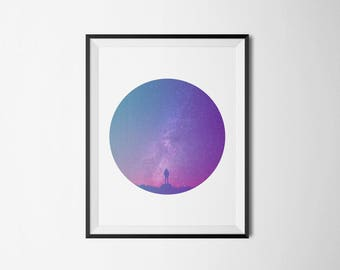 Starry Sky, Instant Download Digital Art, Printable Art, Wall Decor