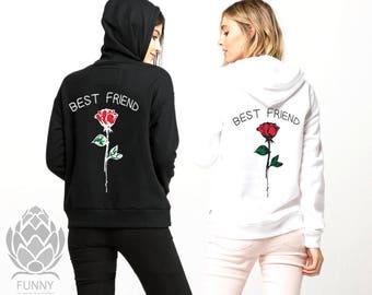 BEST FRIEND Couples Hoodies, Matching Couple Sweatshirts, Matching Couple Sweaters, BFF Hoodies, Friends shirts