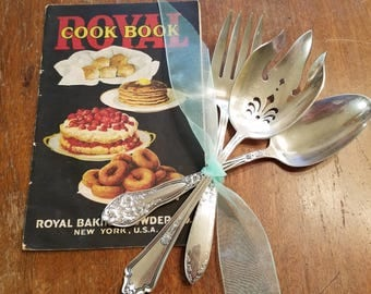 Vintage Silverplate Serving Pieces bonus cookbook