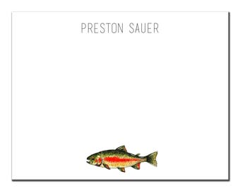 Mens Rainbow Trout Stationery