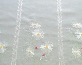 Curtain sheer ready to install valance bise breeze and embroidered flowers