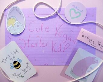 Cute Vegan Stickers // Starter Kit <3