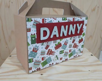 Personalised Christmas Eve Gift Box Gable Box