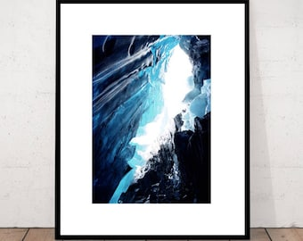 Glacier Print, Art Photography, Glacier Wall Art, Landscape Decor, Modern Photography, Minimalist Print, Nature Art Print, Glacier Wall Art
