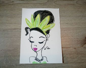 "Postcard ""Tiana"" The princess and the frog"