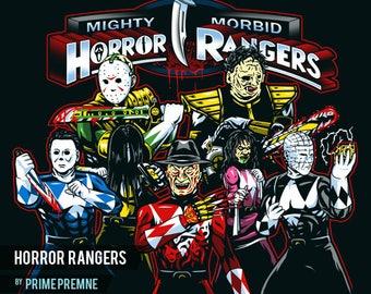 Horror Rangers - Horror Movie Icons Inspired   Halloween Shirt   Horror Tee