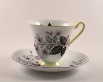 Vintage Society Fine Bone China Cup and Saucer