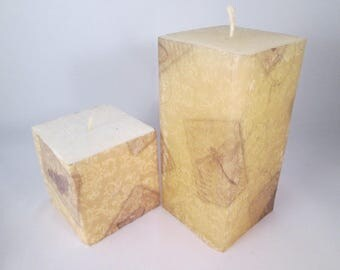 Butterfly Candles, Decoupaged Candles, Decopatch Candles, Decorated Candles, Insect Candles,  Pillar Candles, Decorated Candle